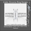 Cubic Zirconia Engagement Ring- The Diana (Emerald Cut with Round Band Accents)