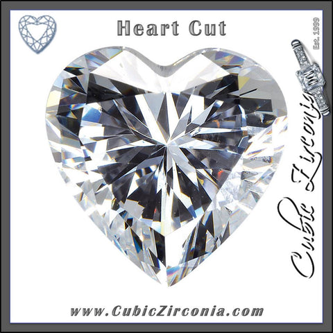 Heart Cut Cubic Zirconia Loose Stones 5A Quality