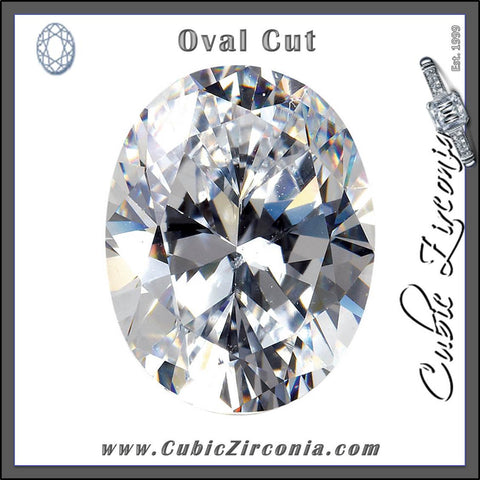 Oval Cut Cubic Zirconia Loose Stones 5A Quality