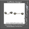 Men's Cufflinks- Featuring 9mm Tahitian Cultured Pearls