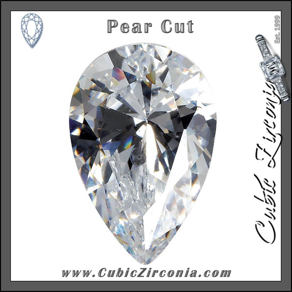 Pear Cut Cubic Zirconia Loose Stones 5A Quality