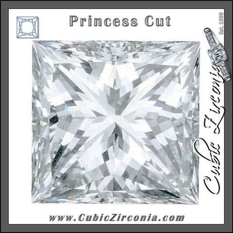 Princess Cut Cubic Zirconia Loose Stones 5A Quality