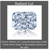 Cubic Zirconia Engagement Ring- The Desirée (1 Carat Customizable Center with Infinity Twist Micropavé)