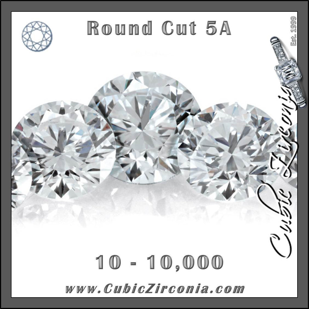 Wholesale 5A White/Clear Round Cut Melee/Accent Stones (Boutique Packages 10-10,000 units)