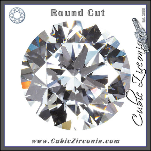 Round Cut Cubic Zirconia Loose Stones 5A Quality