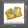 Cubic Zirconia Engagement Ring- The Evelyn (0.2-3.0 CT Round Wide Solitaire)