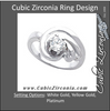 Cubic Zirconia Engagement Ring- The Sophia (0.75 Carat Round Solitaire with Freeform Design)
