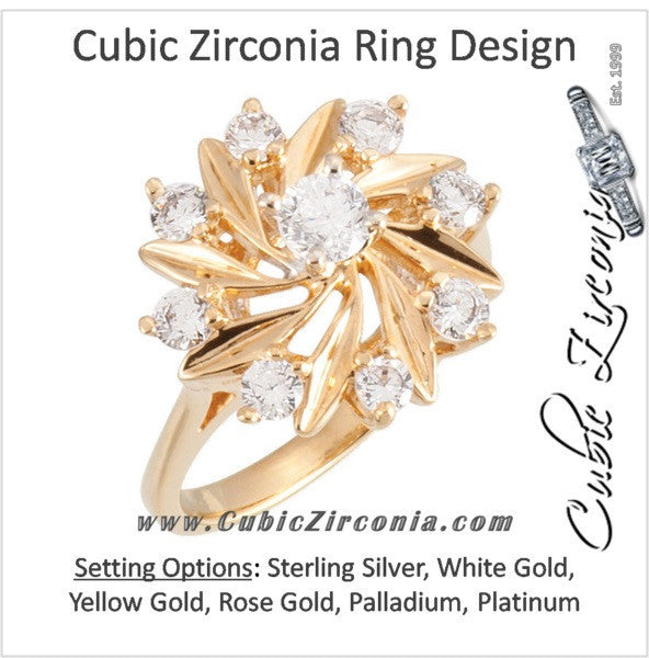 e981fea6c Cubic Zirconia Engagement Ring- The Shania (0.81 CTW