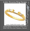 Cubic Zirconia Anniversary Ring Band, Style 108-02 (0.16 TCW Twin Baguettes)