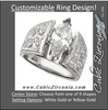 Cubic Zirconia Engagement Ring- The Jodi (0.12-5.0 CT Customizable Center Wide Hand-Engraved Solitaire)