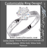 Cubic Zirconia Engagement Ring- The Hailey (0.25-1.0 CT Round-Cut Cut Solitaire with Hand-Engraved Band)