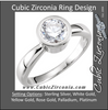 Cubic Zirconia Engagement Ring- The Sheena (Simple 0.25-1.0 CT Round Bezel-Set Solitaire)