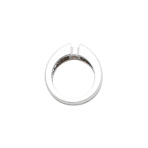 Cubic Zirconia Engagement Ring- The Kayla (0.25-1.0 CT Round Bezel-Set Solitaire)