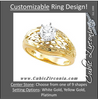 Cubic Zirconia Engagement Ring- The Suzanne (0.25-3.0 CT Customizable Solitaire with Hand Engraved Band)