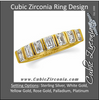 Cubic Zirconia Anniversary Ring Band, Style 120-321 (1.4 TCW Channel Set Emerald-Cut)