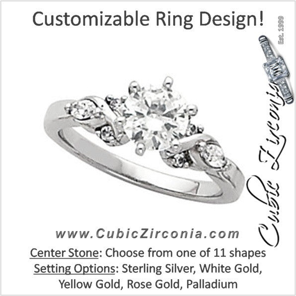 Cubic Zirconia Engagement Ring- The Juanita