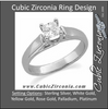 Cubic Zirconia Engagement Ring- The Natasha (0.25-2.0 CT Cathedral-inspired Princess-Cut Design)