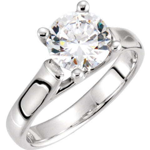 Cubic Zirconia Engagement Ring- The Nell (Solitaire with X Cross Band)
