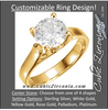 Cubic Zirconia Engagement Ring- The Tatiana (Solitaire with X Cross Band and Side Accent)