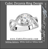 Cubic Zirconia Engagement Ring- The Anna Katherine (Round 1 Carat Solitaire with Oversized Infinity Twist Band)
