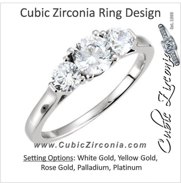 Cubic Zirconia Engagement Ring- The Sonjia