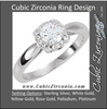 Cubic Zirconia Engagement Ring- The Courtney (0.5-1.0 Carat Round Halo-Styled)