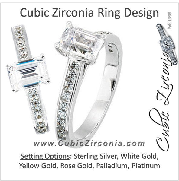 Cubic Zirconia Engagement Ring- The Micheala