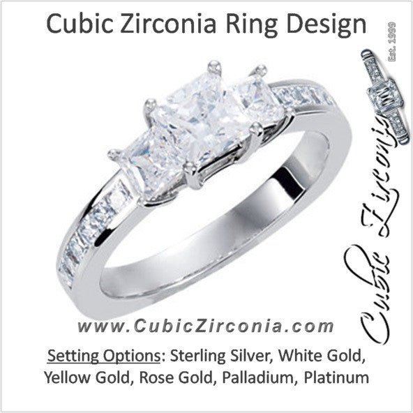 Cubic Zirconia Engagement Ring- The DeeAnne