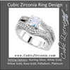 Cubic Zirconia Engagement Ring- The Ava (2.07 TCW Round European Split-Band with Pave)