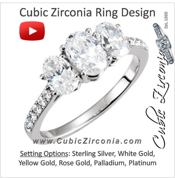 Cubic Zirconia Engagement Ring- The Traci