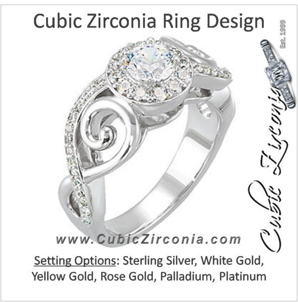 Cubic Zirconia Engagement Ring- The Shawntee