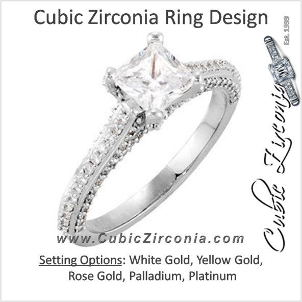 Cubic Zirconia Engagement Ring- The Kyrstie