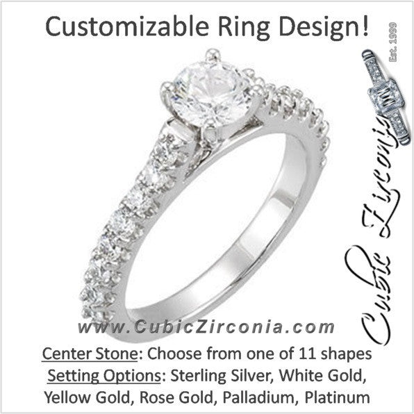 Cubic Zirconia Engagement Ring- The Frances