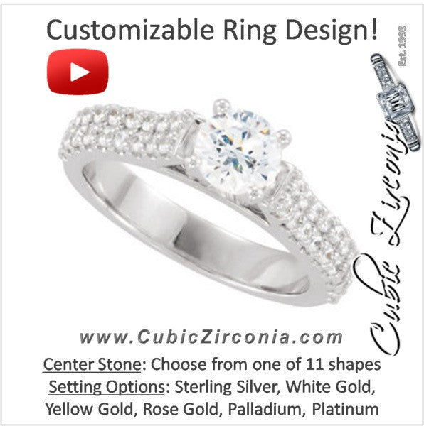 Cubic Zirconia Engagement Ring- The Sydnee