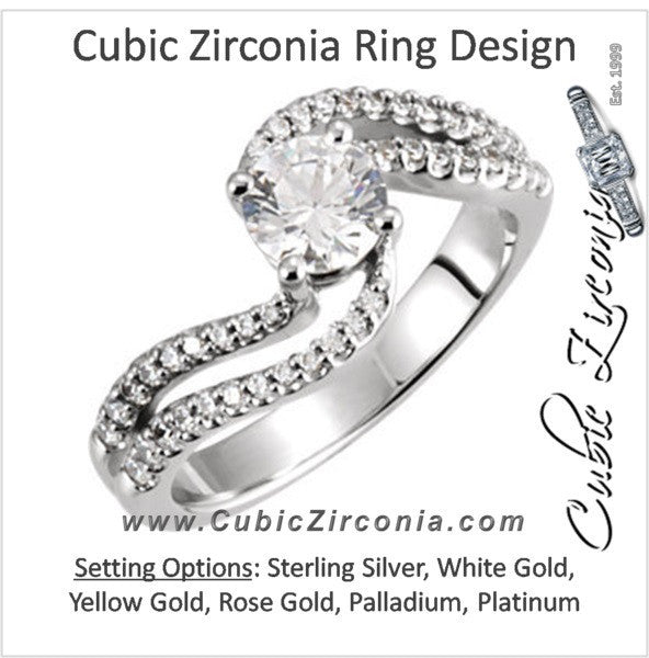 Cubic Zirconia Engagement Ring- The Sherena