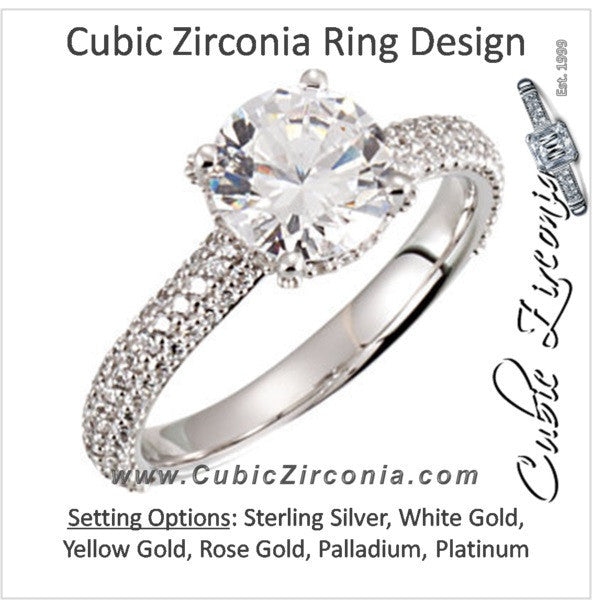 Cubic Zirconia Engagement Ring- The Rhiana