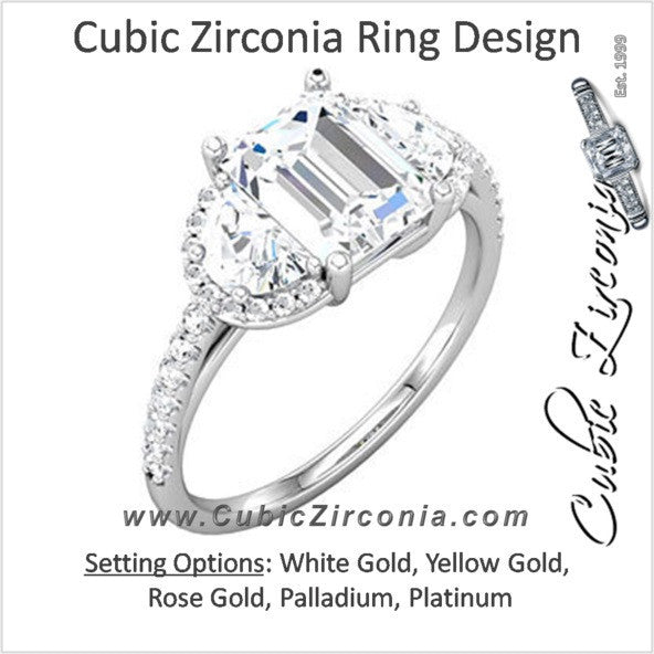 Cubic Zirconia Engagement Ring- The Celine