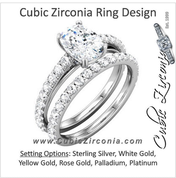 Cubic Zirconia Engagement Ring- The Mary Katherine