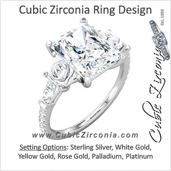 Cubic Zirconia Engagement Ring- The Francine