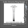 Cubic Zirconia Engagement Ring- The Kristy (1.5 Carat Round Halo-Style with Split-Band Pave)