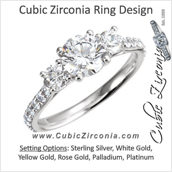 Cubic Zirconia Engagement Ring- The Alexis