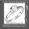 Cubic Zirconia Engagement Ring- The Cynthia (1 Carat Round Solitaire)