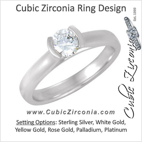 Cubic Zirconia Engagement Ring- The Judith