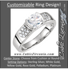 Cubic Zirconia Engagement Ring- The Tammy (Round or Cushion Bezel)