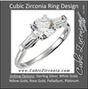 Cubic Zirconia Engagement Ring- The Barbara (0.5-2.0 Carat Round 3-stone with Dual Tapered Baguettes)