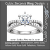 Cubic Zirconia Engagement Ring- The Veronica (0.5-1.0 Carat Round Split-Band)