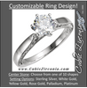 Cubic Zirconia Engagement Ring- The Joanna (0.25-1.0 Carat Customizable Center Solitaire with Inscribed-Metal Band)