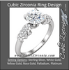Cubic Zirconia Engagement Ring- The Tamara (1.5 Carat Round Sculptural Grape-Bunch)