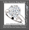 Cubic Zirconia Engagement Ring- The Lisa (7-stone Round Center Cluster-Style)