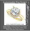 Cubic Zirconia Engagement Ring- The Latasha (Customizable Setting with Triple Trellis Halo)